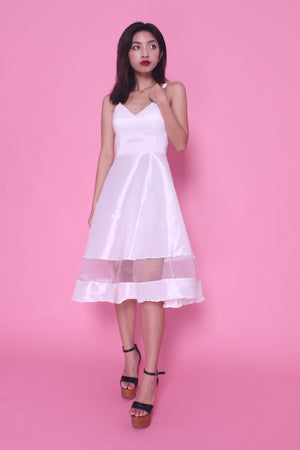 Sandra Gown Dress in White