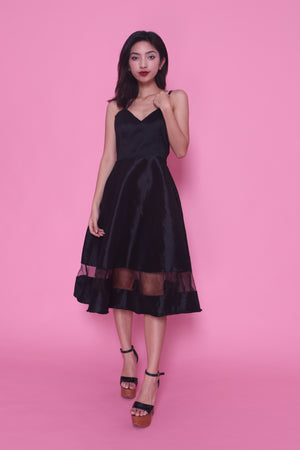 Sandra Gown Dress in Black