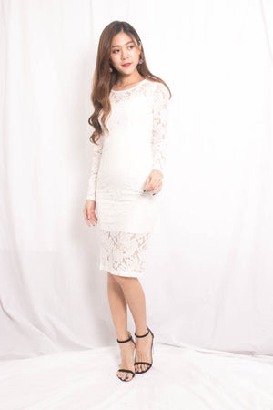 Jaysie Crochet Dress in White
