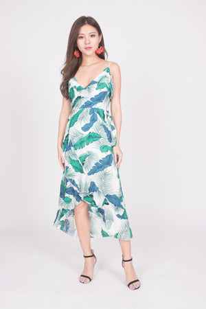 *LUXE* Teena Tropical Midi Dress