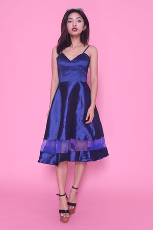 Sandra Gown Dress in Navy