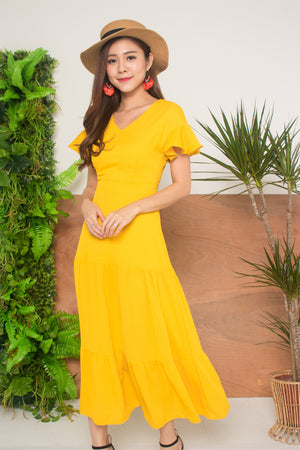*LUXE* - Sapho Island Maxi Dress in Marigold Yellow