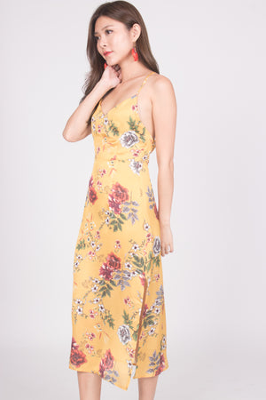 * LUXE * Milei Floral Criss Back Dress
