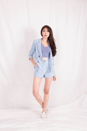 Load image into Gallery viewer, *PREMIUM* - Shelia Suit up Blazer in Baby Blue - Self Manufactured by LBRLABEL