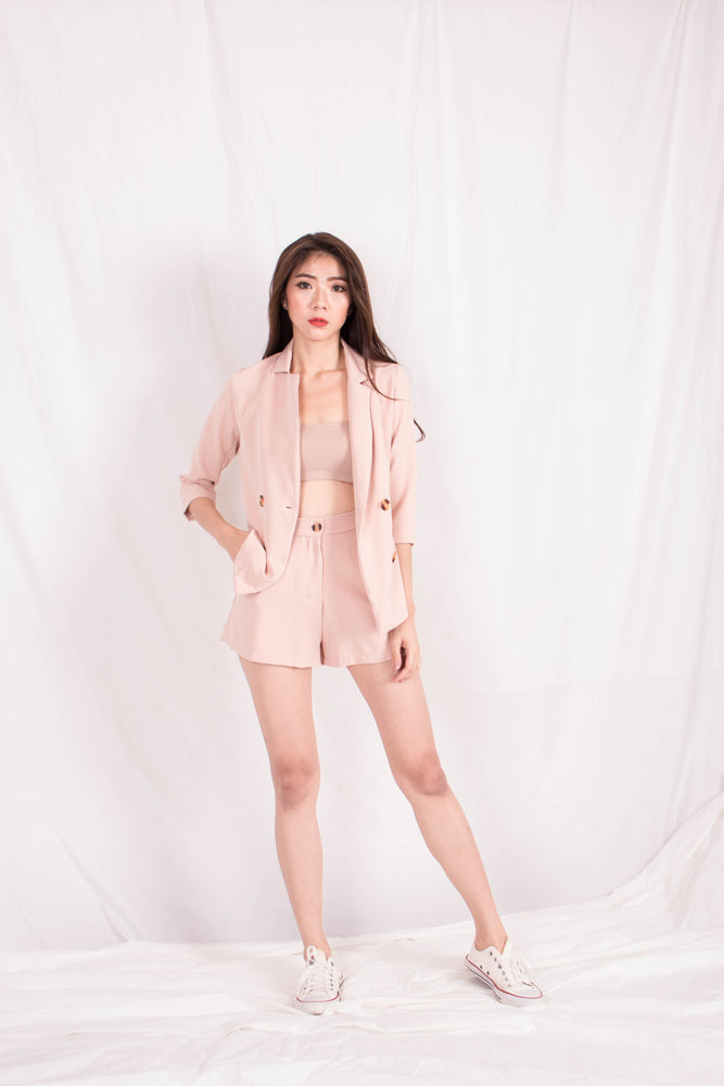 *PREMIUM* - Shelia Suit up Blazer in Khaki - Self Manufactured by LBRLABEL