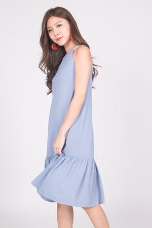 Heiley Halter Dress in Blue