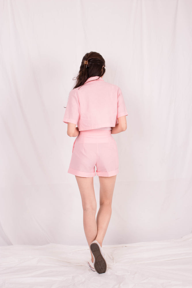 Load image into Gallery viewer, *PREMIUM* - Georgilia Co-ord Set in Pastel Pink - Self Manufactured by LBRLABEL