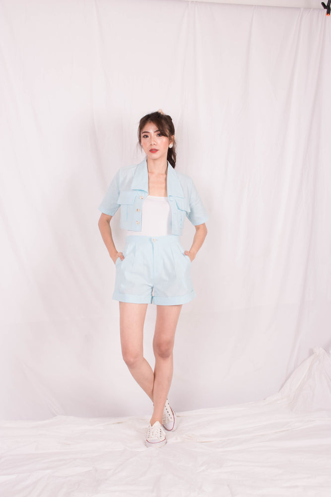Load image into Gallery viewer, *PREMIUM* - Georgilia Co-ord Set in Baby Blue - Self Manufactured by LBRLABEL