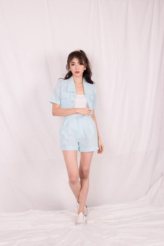 *PREMIUM* - Georgilia Co-ord Set in Baby Blue - Self Manufactured by LBRLABEL