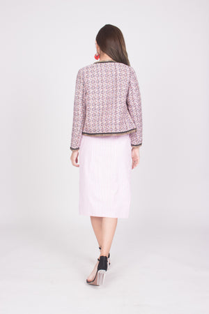 (BO) * LUXE * Marilyna Tweed Jacket in Pink