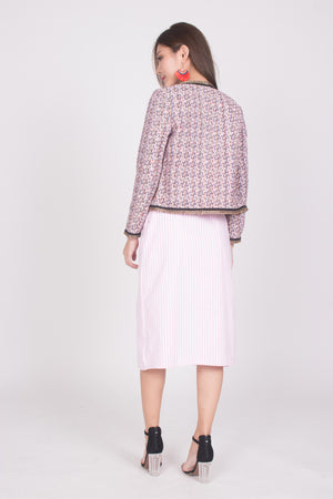 * LUXE * Marilyna Tweed Jacket in Pink
