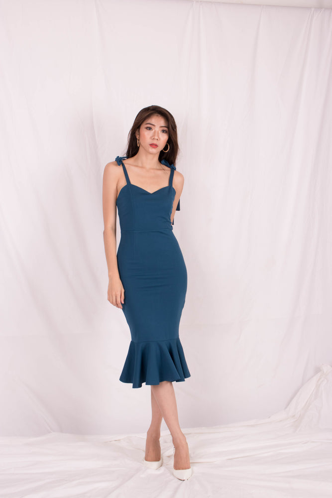*PREMIUM* - Maelia Mermaid Dress in Teal