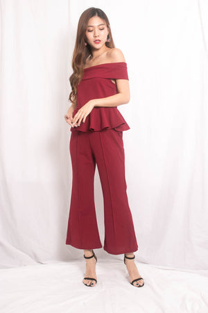 Load image into Gallery viewer, Tiffa 2 Piece Set in Burgundy