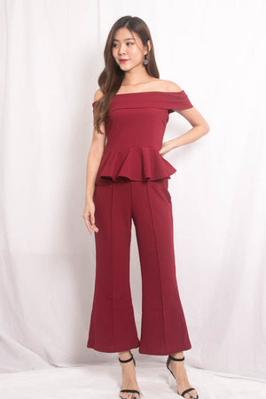 Tiffa 2 Piece Set in Burgundy