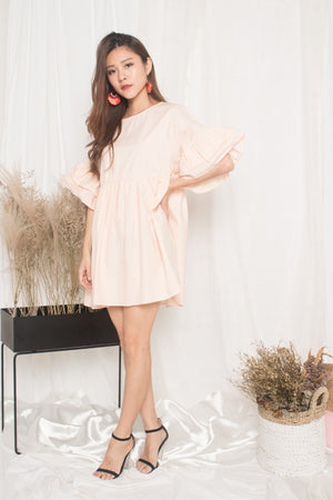 Fersa Babydoll Dress in Pink