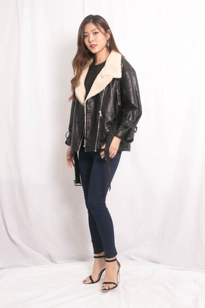 * LUXE * Jalea Leather Coat