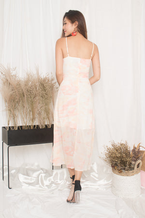 Load image into Gallery viewer, *PREMIUM* - Natalia Pastel Maxi Dress in Orange - LBRLABEL MANUFACTURED