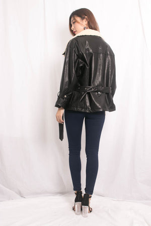 (BO) * LUXE * Jalea Leather Coat