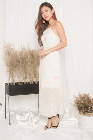 *PREMIUM* - Natalia Pastel Maxi Dress in Pink - LBRLABEL MANUFACTURED