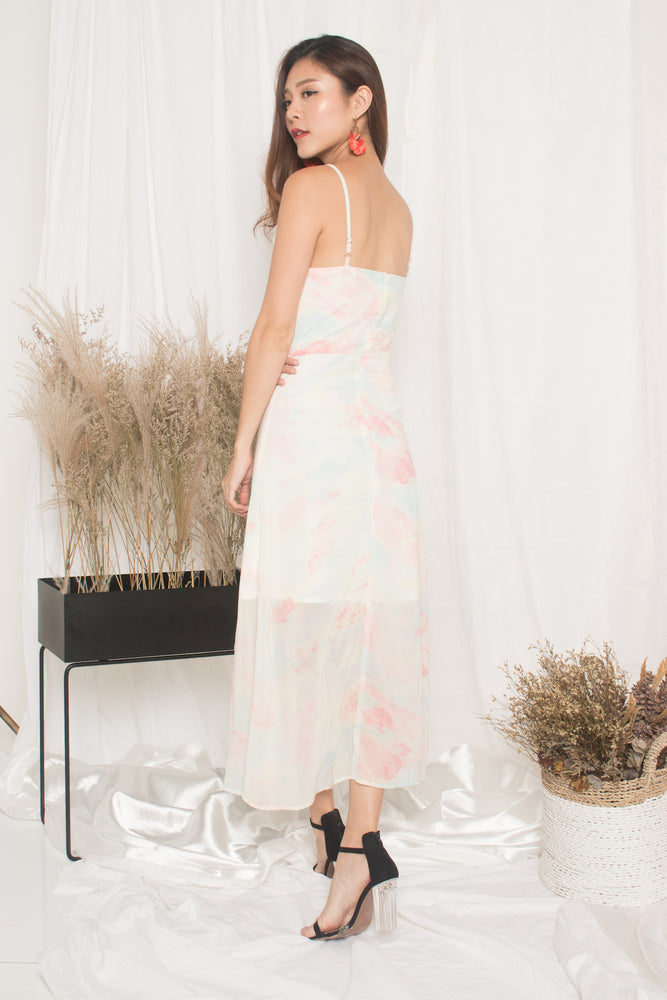 Load image into Gallery viewer, *PREMIUM* - Natalia Pastel Maxi Dress in Pink - LBRLABEL MANUFACTURED