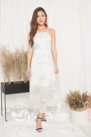 *PREMIUM* - Natalia Pastel Maxi Dress in Blue - LBRLABEL MANUFACTURED