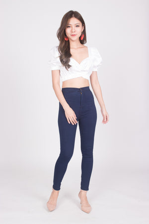 (BO) Seta Sleeved Top in White