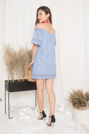 Kelly Eyelet Dress in Periwrinkle