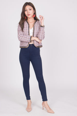 Load image into Gallery viewer, * LUXE * Marilyna Tweed Jacket in Pink