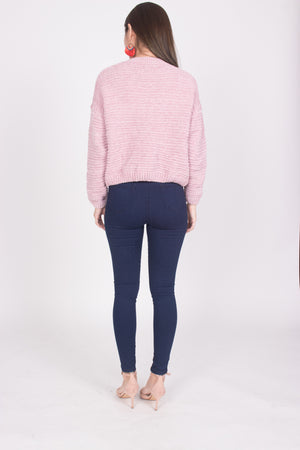 Lisa Knit Pullover in Pink