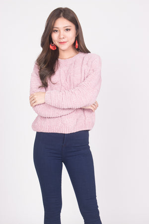 (BO) Lisa Knit Pullover in Pink
