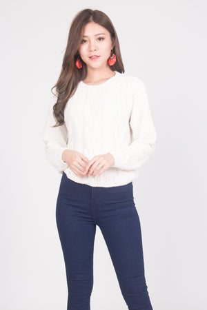 Lisa Knit Pullover in White