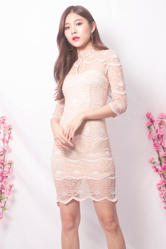 32ae75592e332 * LUXE * Eriwea Crochet Lace Dress - LBRLABEL