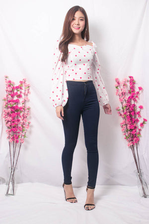 Load image into Gallery viewer, Yesie 2 Way Polkadot Top in White