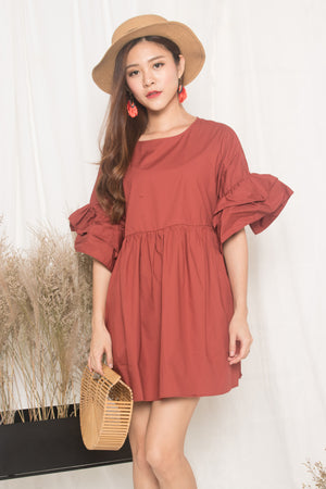 Fersa Babydoll Dress in Plush