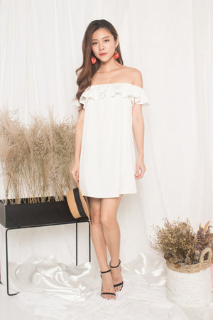 Joelina 3 Ways Flutter Dress in White