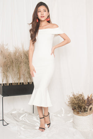 LUXE - Angewina Mermaid Formal Dress in White