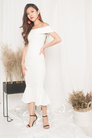 Load image into Gallery viewer, LUXE - Angewina Mermaid Formal Dress in White