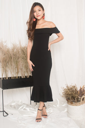 LUXE - Angewina Mermaid Formal Dress in Black