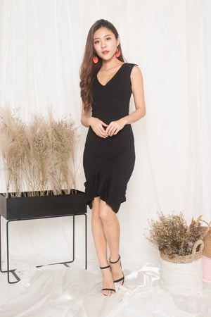 Tiara Mermaid Dress in Black