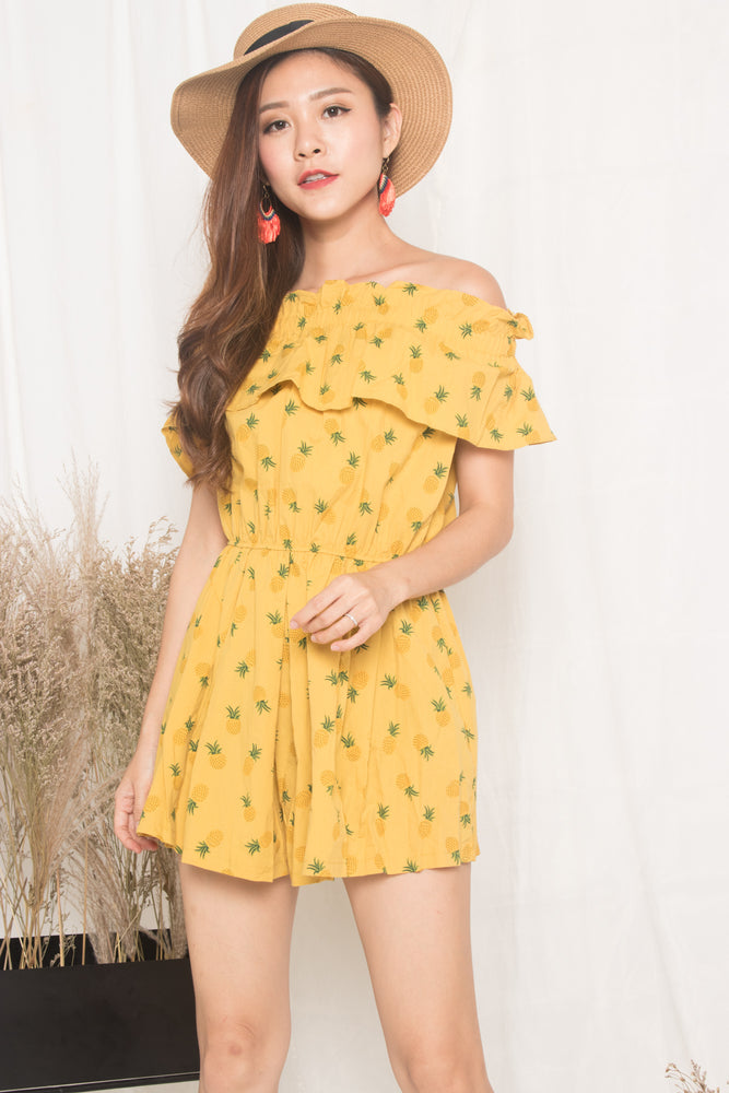 Pineapple Maximum Offsie Dress