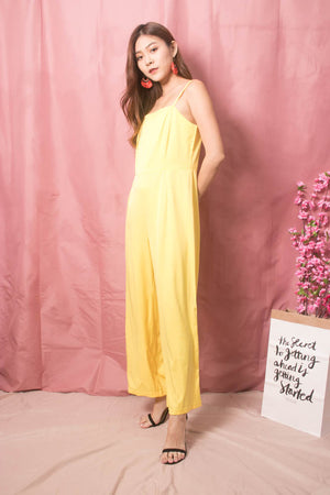 * LUXE * Stacie Jumpsuit in Yellow