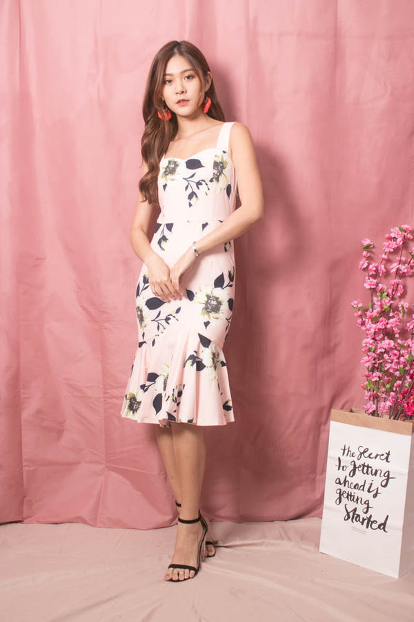 * LUXE * Cecilia Mermaid Floral Dress