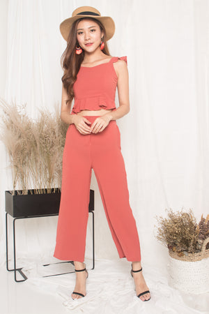 Alandra Flutter 2 Piece Set in Blush