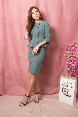 Norah Corporate Button Dress