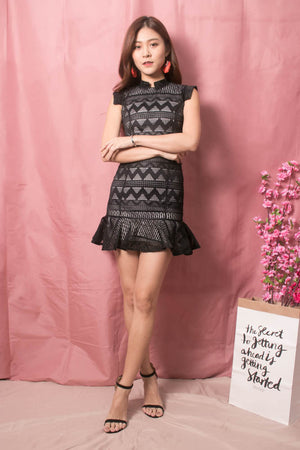 * LUXE * - Sadie Crochet Dress in Black