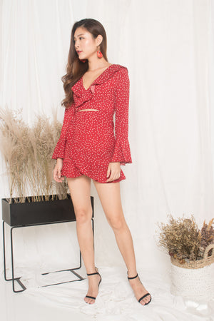 Load image into Gallery viewer, Felicity Polkadot Dress in Red
