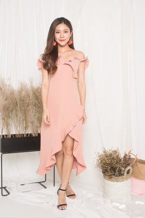 (BO) *LUXE* - Queenlyn Flutter Dress in Pink