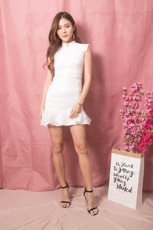 Load image into Gallery viewer, * LUXE * - Sadie Crochet Dress in White