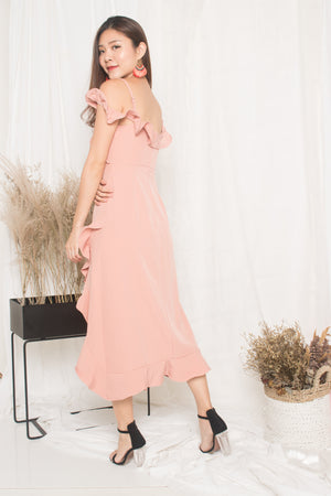 Load image into Gallery viewer, *LUXE* - Queenlyn Flutter Dress in Pink