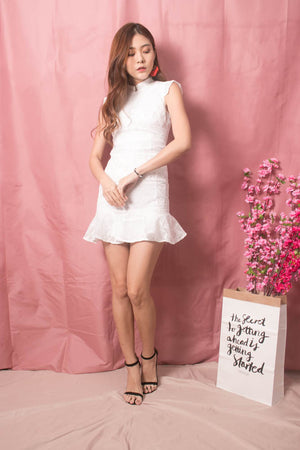 * LUXE * - Sadie Crochet Dress in White